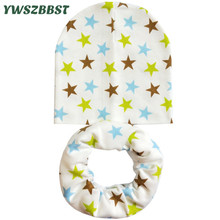 2017 New Fashion Cartoon Baby Boy Hat Cotton Girl Warmer Cap Beanies Kids Scarf Bibs
