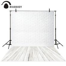 Allenjoy обои, фото фон белый роспись закрытым кирпичная стена закрытым деревянный пол Задний план для фото фон ткани