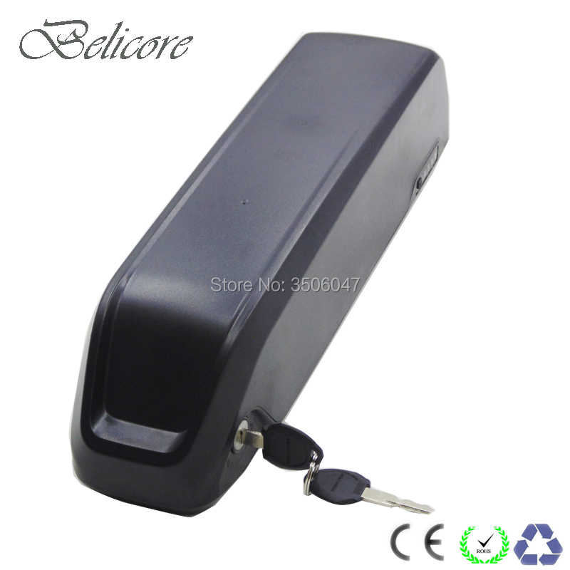 Free shipping Shark style 36 Ebike Battery pack 36V 8ah 10ah 12.5ah 250W 350W 500W electric bicycle frame Battery with charger
