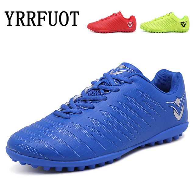 YRRFUOT New Adults Brand High Quality PVC Sneakers Men's Outdoor Soccer Cleats Shoes Futsal Turf Training Football Shoes Zapatos