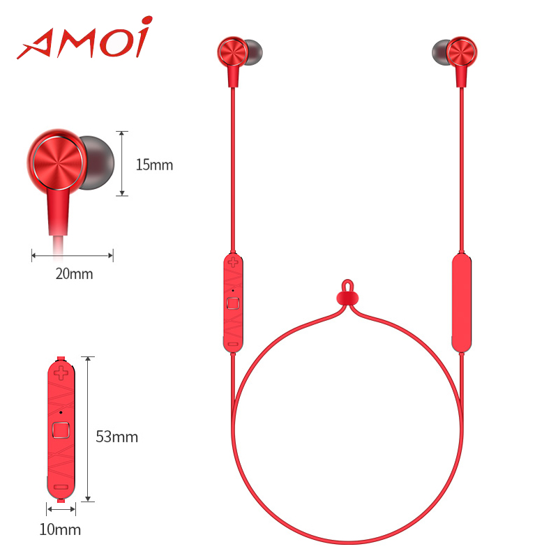 Amoi A15 Wireless headphones Bluetooth4.1 CVC 6.0 Waterproof Sport headset for Galaxy S9 S9Plus Xiaomi 3 Colors Available