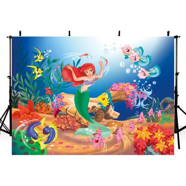 Photography Backdrops Little Mermaid Backdrop For Ocean Aquarium Background Photo Studio Photocall Boda
