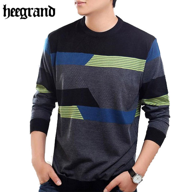 HEE GRAND 2017 New Fashion Men's Sweater Pullovers Casual Mature Sweater For Man Patterns Brand Pullovers  MZL130
