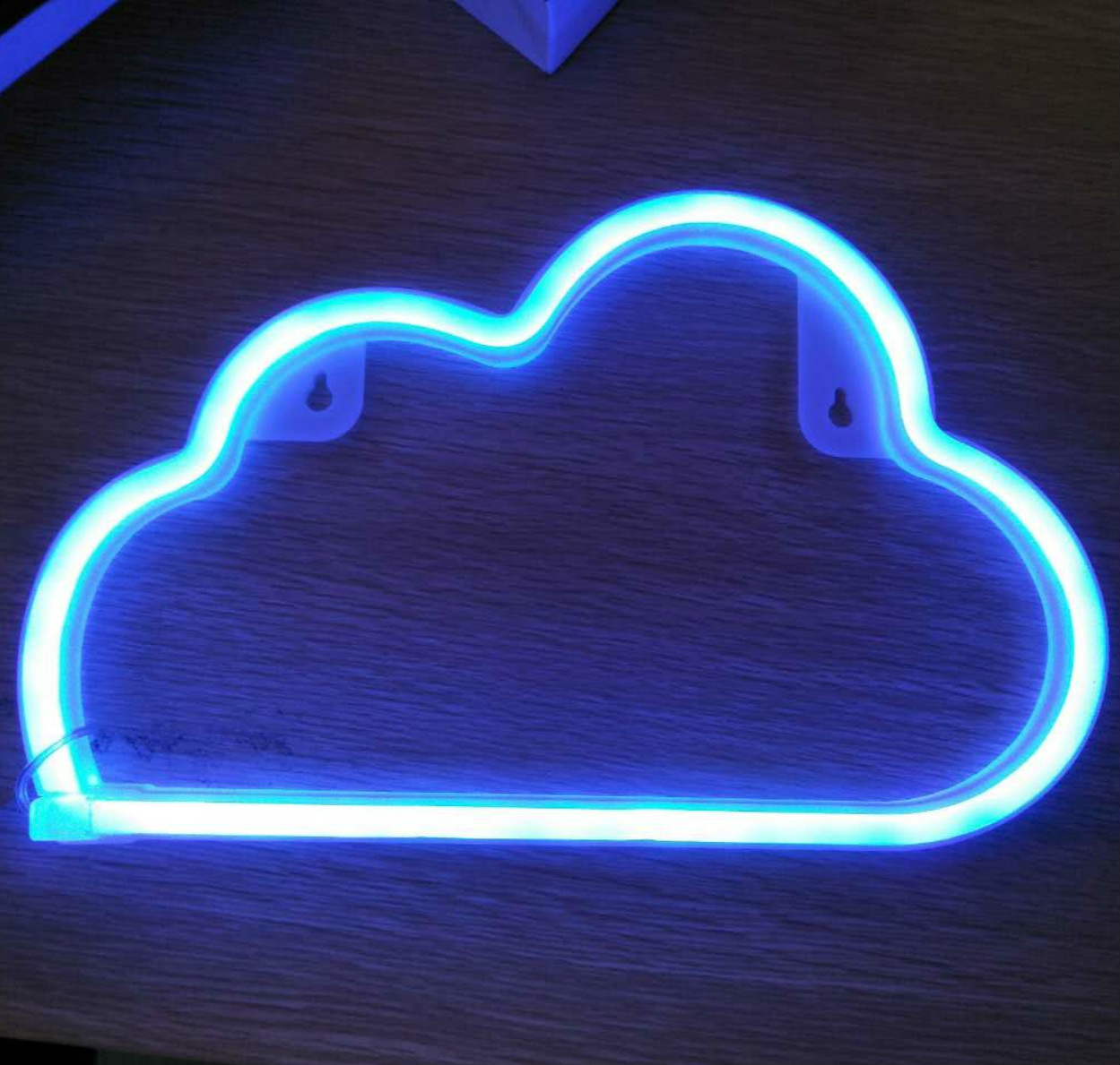 led neon lighting cloud shape neon light wall lamp word poster background room decor shop. Black Bedroom Furniture Sets. Home Design Ideas