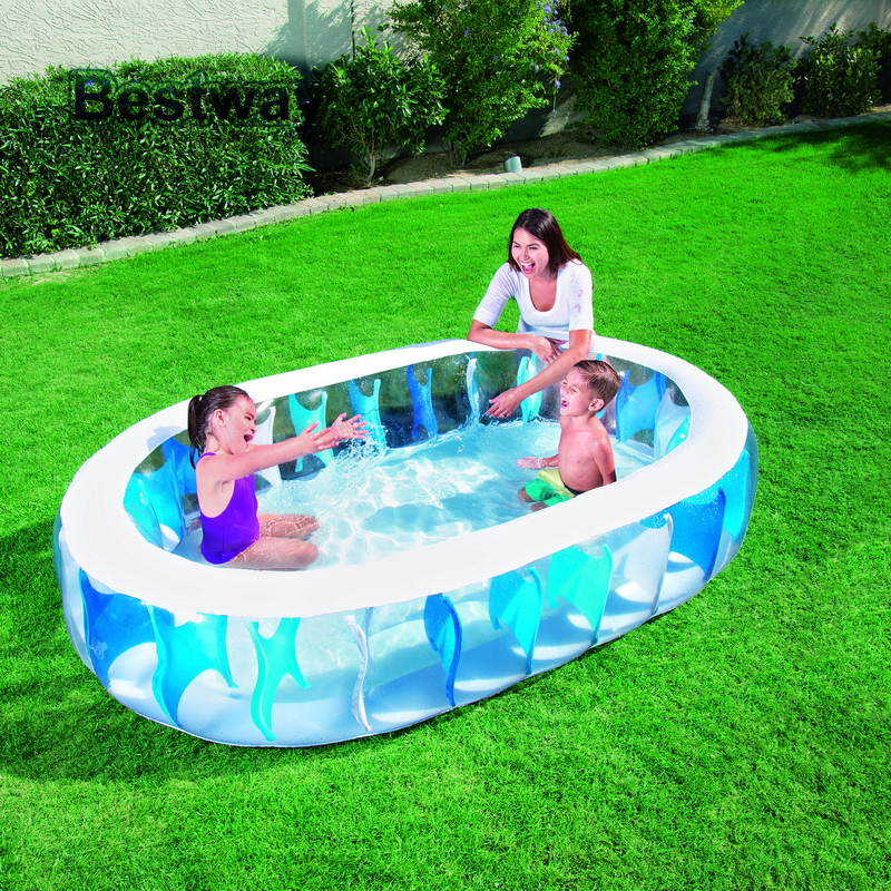 "7.5'x60""x20""/2.29mx1.52mx51cm Bestway 54066 Elliptic Pool Oval Inflatable  Swimming Pool Baby Bath Pool Kid Bathtub Paddling Pool-in Pool &  Accessories from ..."
