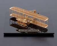 The Japanese AEROBASE Plane Model WRIGHT 1903 Flyer Brass Structure DIY Fancy Decorations