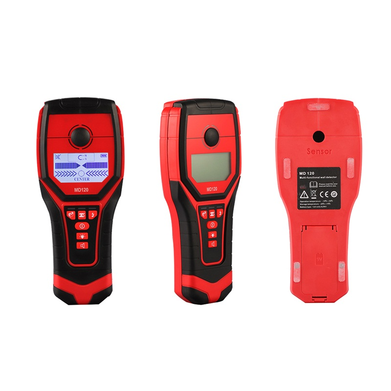 Portable Metal DetectorMD120 3 In 1 Wall Detector Metal Wood Stud Finder AC Cable Live Wire Scanner Accurately цена