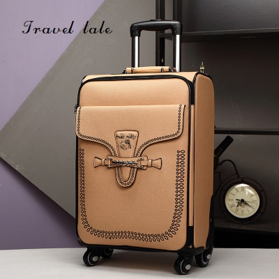 Travel tale  fashion Restoring ancient ways ABS 20/24 Inch Rolling Luggage Spinner brand Travel Suitcase Travel tale  fashion Restoring ancient ways ABS 20/24 Inch Rolling Luggage Spinner brand Travel Suitcase