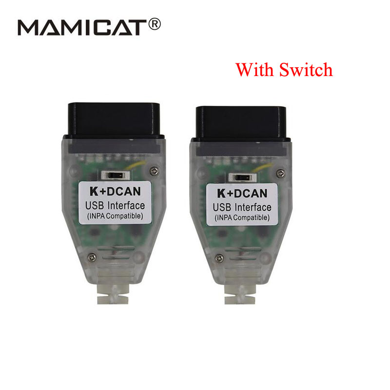 2017 For BMW INPA K+DCAN New Switch FTDI FT232RQ / FT232RL Chip OBD OBD2 Diagnostic Tool Code Scan Free Shipping