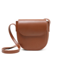 2019 Amarte Spring New Women PU Leather Shoulder Bag High Quality Saddle Ladies Messenger Solid Color Simple Bags