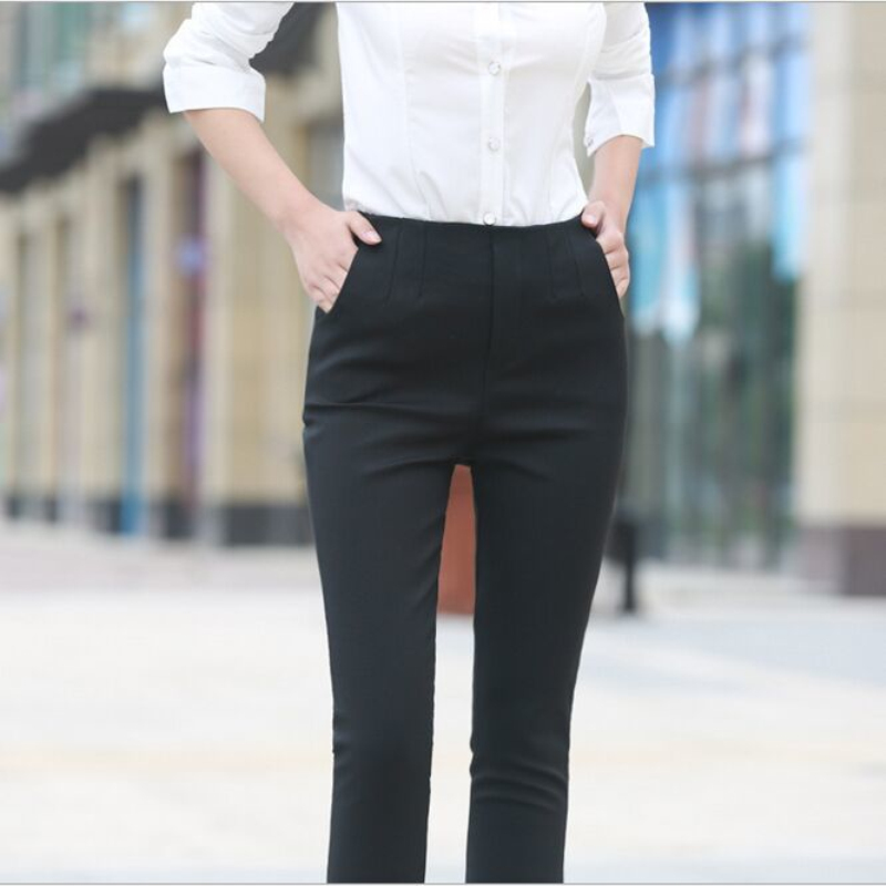 2019 Black Pieds Sac Qualité Femme Ol Haute Noir Crayon Kelly Pantalon Maigre Xxl Office Pour Taille Supérieure Vêtement Pantalons Lady qwAxwFXf