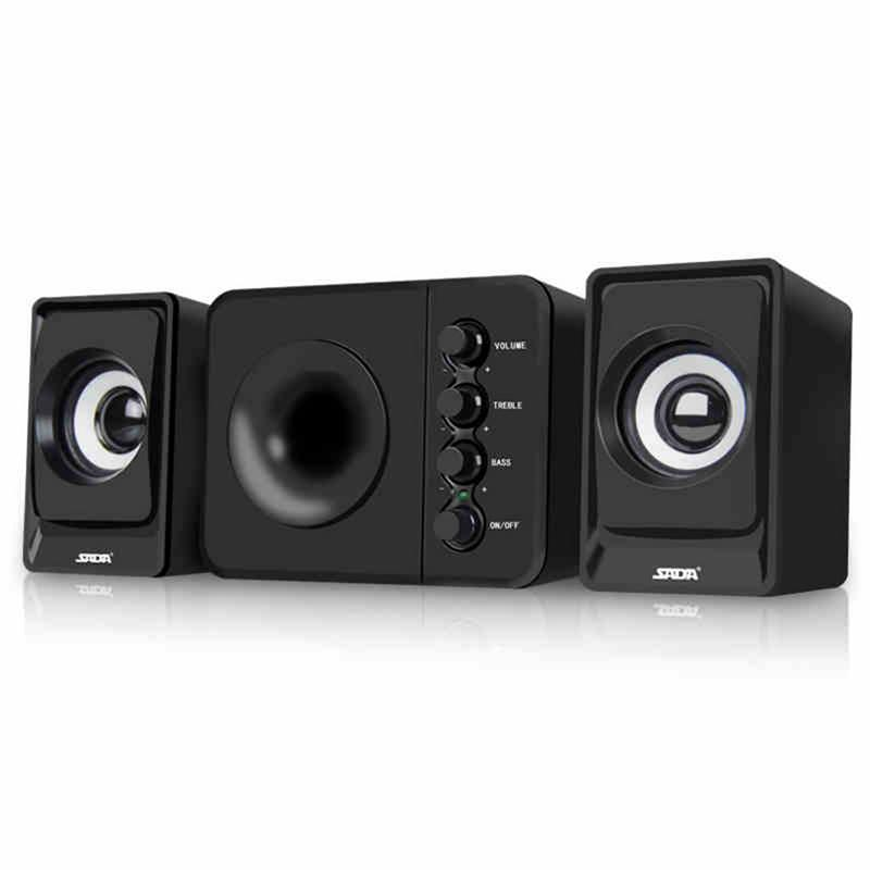 Computer Mini Speaker USB Wired Combination Speaker bass Stereo Music Surround Black Home Loudspeaker 3.5mm Audio Portable