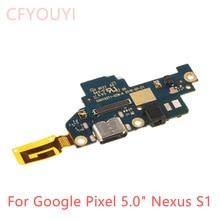 "USB טעינת נמל לוח עבור גוגל פיקסל 5.0 ""Nexus S1 Dock מטען תקע מחבר לוח להגמיש כבלים"