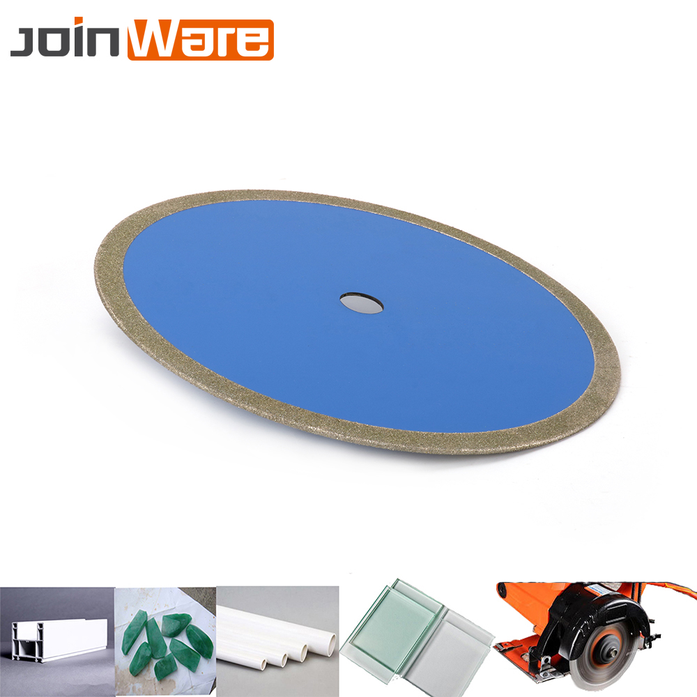 14'' 350mm Diamond Coated Saw Blade Cutting Disc Wheel For Jewlery Glass Jade PVC Pipe Abrasive Grinding 60# FREE SHIPPING free shipping viscidium sand paper stainless steel plate grinding wheel glass grinding alloy saw blade diamond disk spanner