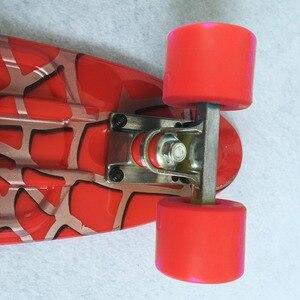 Image 4 - Spider Người Đàn Ông Đồ Họa Đầy Màu Sắc 22 Mini Skate Penny Board Trẻ Em Nhựa Fishboard Cruiser Hoàn Thành Retro Banana Ván Trượt Patins