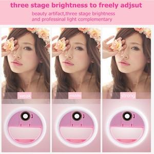 Image 3 - USB LED الجمال ملء ضوء الإضاءة التكميلية ليلة الظلام Selfie تعزيز للهاتف تهمة Selfie مصباح مصمم على شكل حلقة ringlight