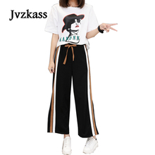 Jvzkass 2018 plus size new fat sister summer mm fairy suit loose weight reduction age was thin Z192