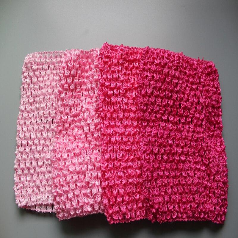 24color Fashion Crochet Tutu Top Headbands 6 Inch Kids Girls Elastic