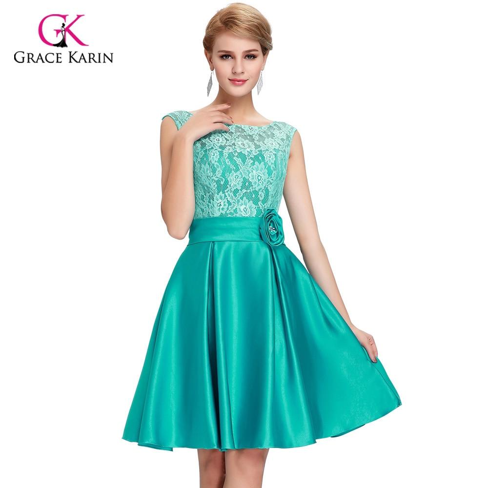 Tienda Online 2018 Grace Karin verde azul Vestidos para la madre de ...
