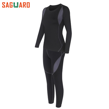 New High Quality Women Thermal Underwear Set 2017 Winter Warm Hot-Dry Technology Surface Elastic Force Long Johns Suit