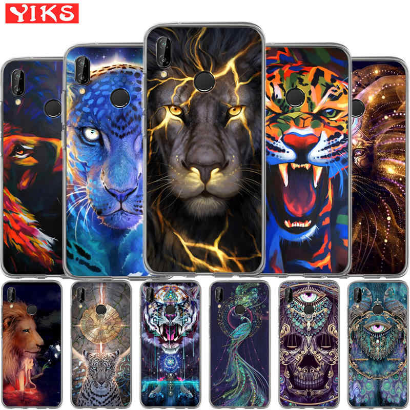 For Huawei mate 9 10 P8 P9 P10 P20 Lite plus pro 2017 lion tiger peacock Cover Steele Case Cases For Huawei P10 Lite Coque Etui