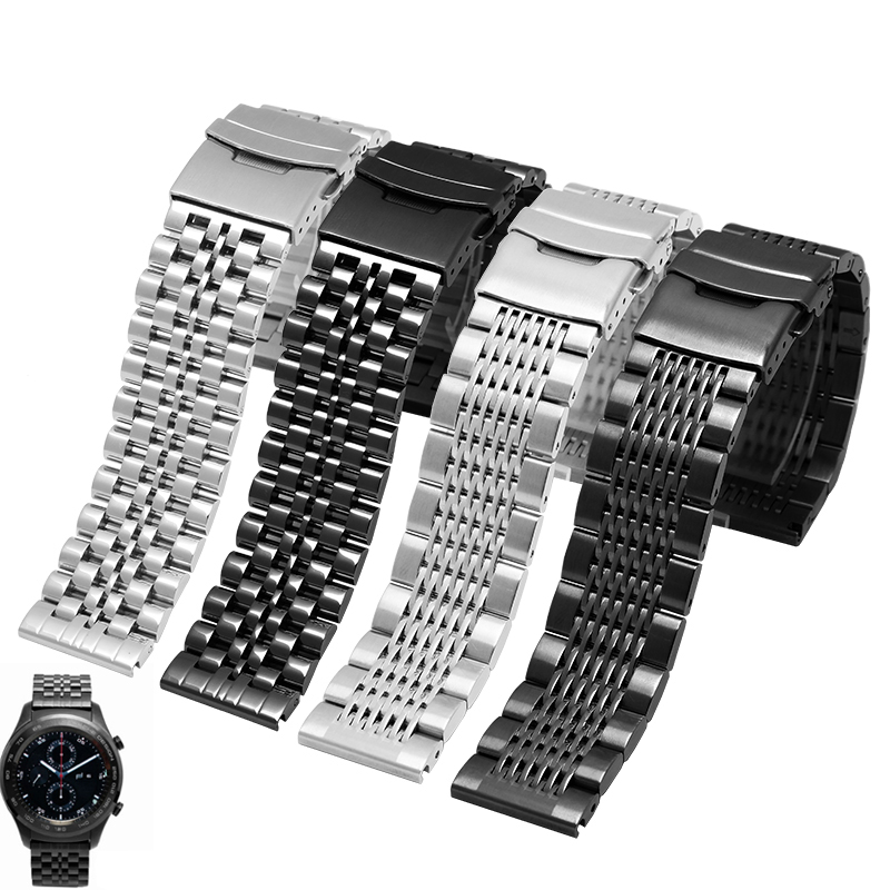 New High quality watchband Stainless steel strap 20mm 22mm for Samsung Gear S2 S3/Huawei watch 2pro smart watch bracelet стоимость