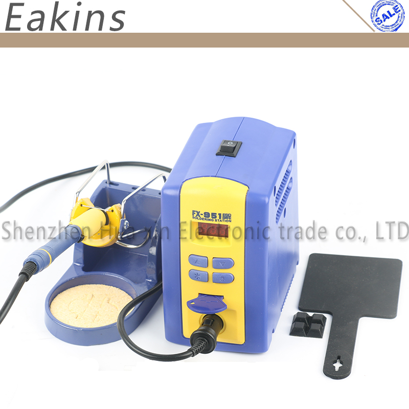 FX-951 Adjustable Digital Soldering Station with FX2028 Soldering Iron Handle+T12 Soldering Tips 220V/110V Welding Tool 30w rubber handle electronics diy welding soldering iron 110v ac