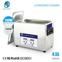 SKYMEN Ультразвуковой очиститель ванну 4.5L 180 Вт 40 кГц для ручки головок, главы принтер, струйных картриджей и уплотнения, монеты, автозапчасти