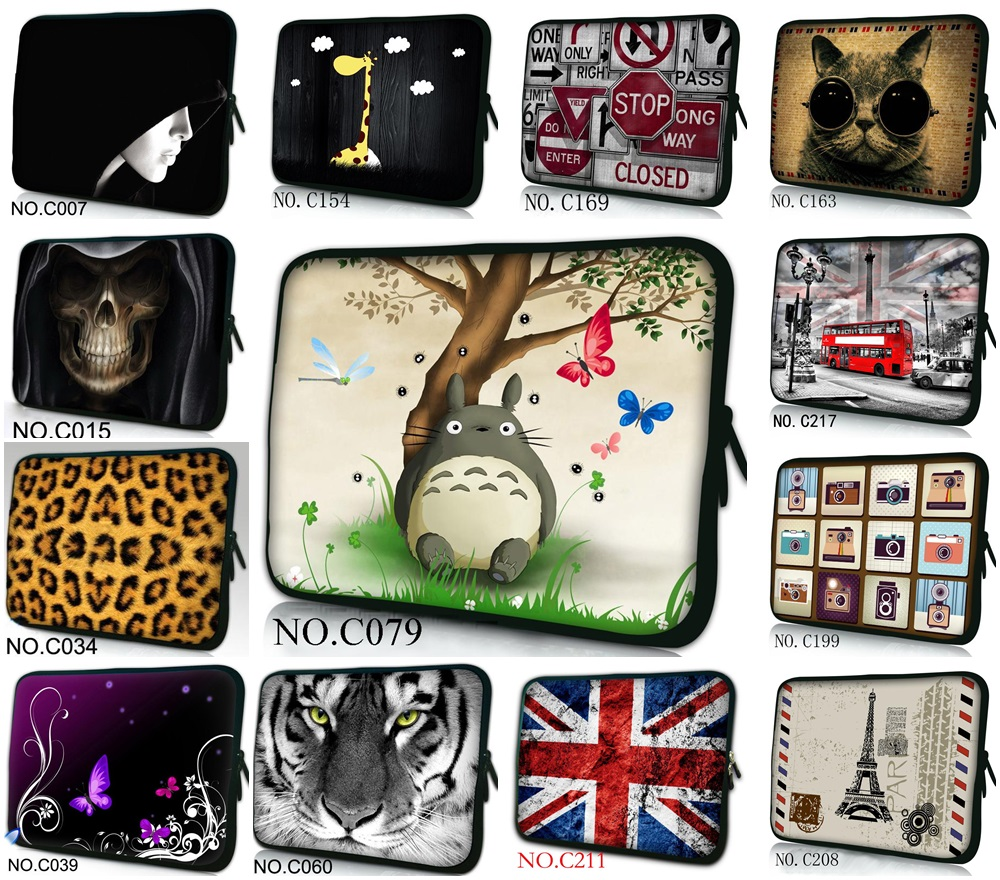 Customized printing soft neoprene laptop sleeve bag notebook case 13.3141515.61717.310.111.612 for macbook dell hp