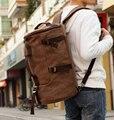 New 2017 Notebook computador velho pacote de viagem grande capacidade de lona dos homens sacos de homens mensageiro homens viajam sacos bolsas de couro