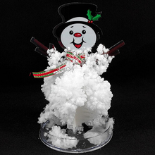 2019 165mm H DIY White Magic Growing Paper Snowman Tree Artificial Magical Grow Trees Arvore Magica Science Kids Christmas Toys 2019 12x8cm hot white magic growing paper snowflake tree magical grow snowflakes flutter crystals snowman trees flakes kids toys