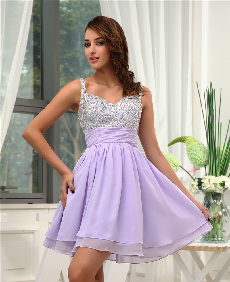 Lavender Cocktail Dresses Promotion-Shop for Promotional Lavender ...