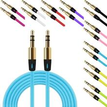 NEW 3.5mm Auxiliary Cable Audio Cable Male To Male Flat Aux Cable 1M Phone To Connect With Audio Device For Phone PC flat 4 conductor trrs 3 5mm audio male to male connection cable black golden 100cm