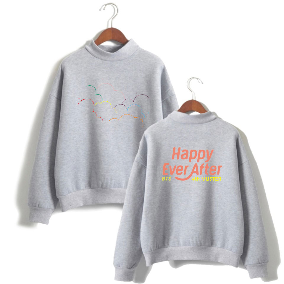 Kpop Style Hooded Sweater Men/women High Collar Long Sleeves Sweatshirt Loose Men Cool And Fashion Style
