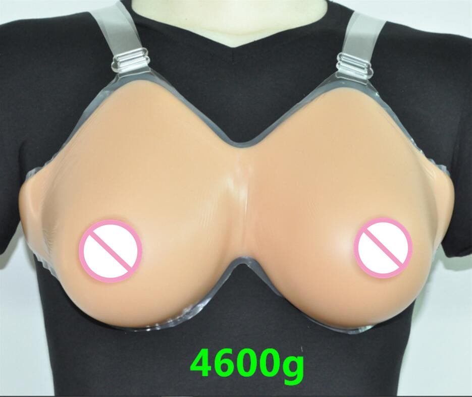 Buy Silicone Fake False Breast crossdresser silicone breast form silicone breast chest prosthesis 4600g H/HH Free shipping