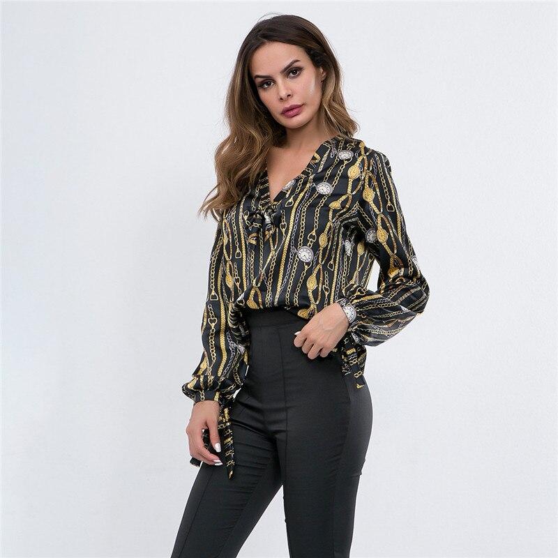 Mujer Camiseta 2019 Tops Sexy V De Casual Blusa Ropa Verano Moda Las Mujeres Coreano Impresión Estilo Cuello 7x7nrdRqw