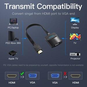 Image 5 - Przewód przedłużający adapter HDMI do VGA cyfrowego na analogowy konwerter wideo audio kabel 1080p dla konsoli Xbox 360 PS3 PS4 PC Laptop TV, pudełko żarówka jak
