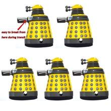 "Lot Van 5 Dr Doctor Who Geel Wind Up Dalek 3 ""Mini Losse Action Figure"