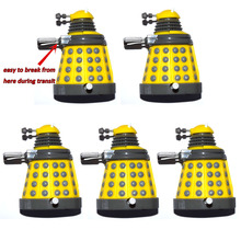 """Lot of 5 Dr. Doctor Who Yellow Wind Up Dalek 3"""" Mini Loose Action Figure"""