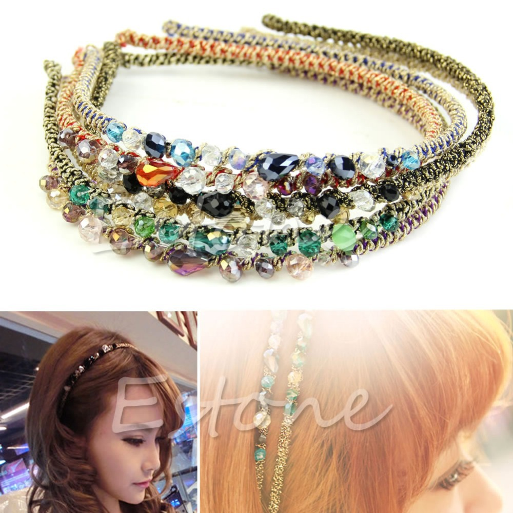 Women Retro Rhinestone Crystal Headband Barrette Hair Accessories Hairpin Clip halloween party zombie skull skeleton hand bone claw hairpin punk hair clip for women girl hair accessories headwear 1 pcs