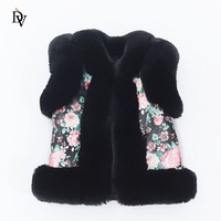 Autumn and winter children's imitation fur vest boys and girls thick warm vest kid hair coat baby shoulder new products FPC 231