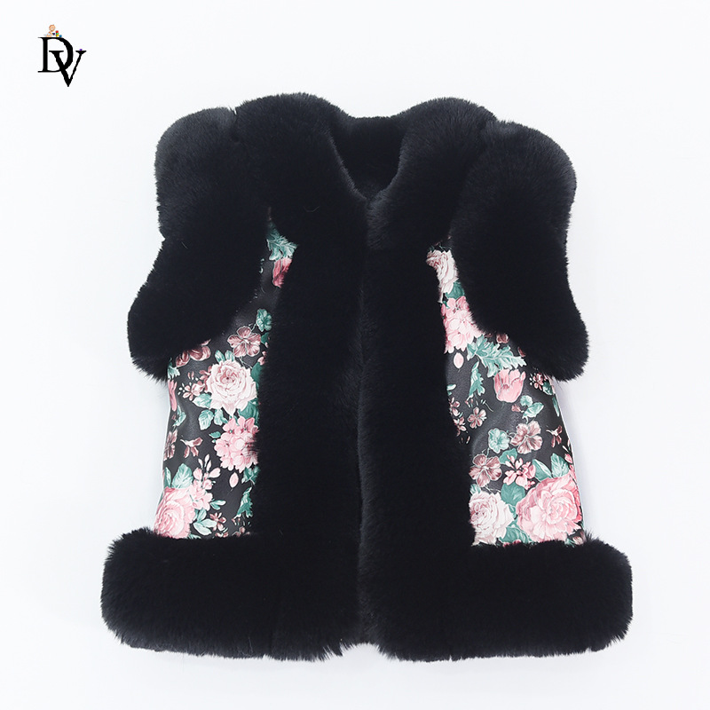 Autumn and winter children's imitation fur vest boys and girls thick warm vest kid hair coat baby shoulder new products FPC-231 children autumn and winter warm clothes boys and girls thick cashmere sweaters