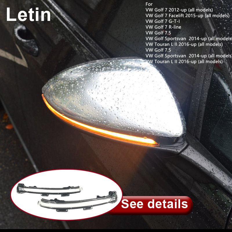 Letin Indicator Dynamic Sequential Flow Side Mirror Amber