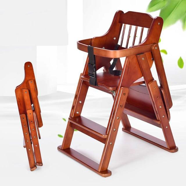 High Chair Restaurant Desk Pink Practical Foldable Baby Dinner Feeding Kids Wood Multi Function Resistance Infant Seat For 0 6t