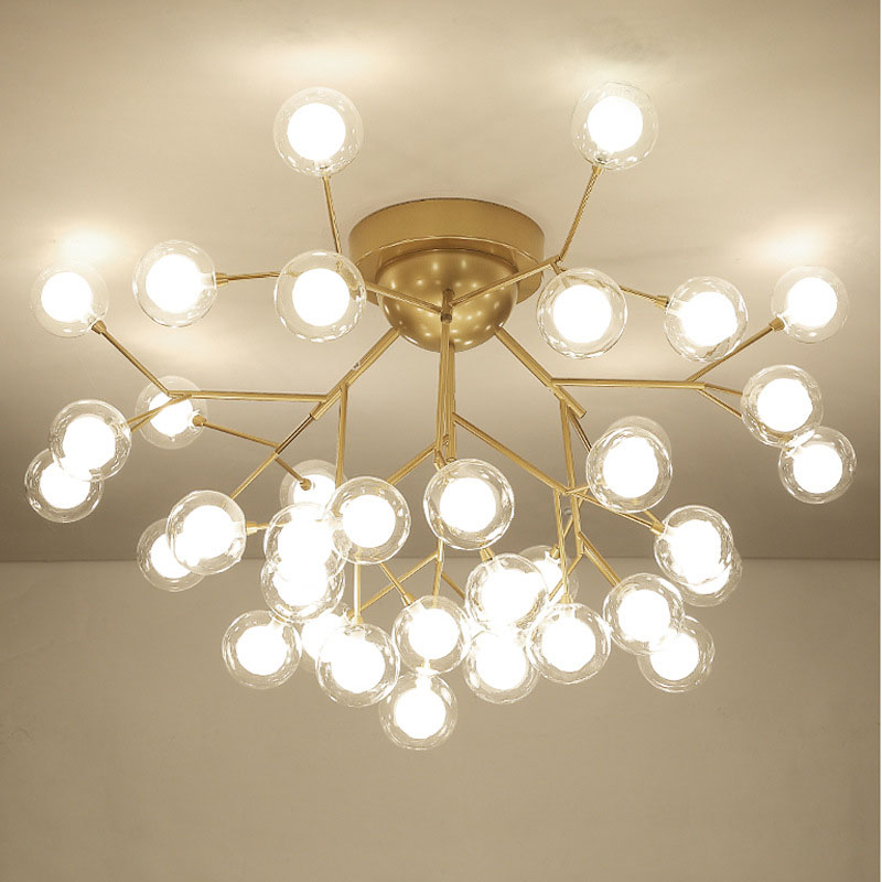Creative Glass Ceiling Chandelier Glass Bubble Ceiling Mounted Modern Decoration Chandeliers for Living Room Bedroom Foyer