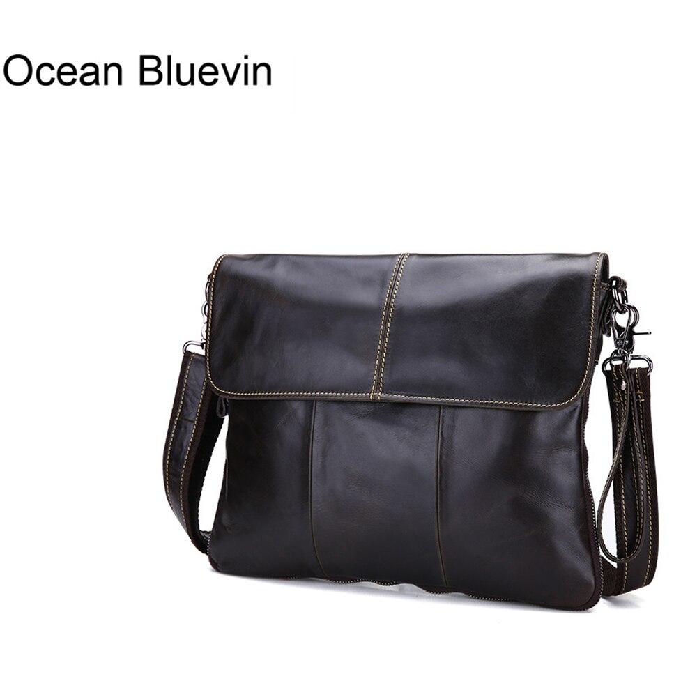 OCEAN BLUEVIN hommes sac à bandoulière en cuir véritable décontracté Messenger sac à bandoulière en cuir pour hommes petit sac à main pour homme