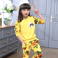 Children Clothing Sets for Girls Floral Suits Autumn Long Sleeve Tops+Pants Sets Kid Print Tracksuits Clothes Sets 2 4 6 8 10 12