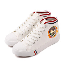 Cartoon Anttack on Titan Eren Mikasa Rivaille Women's Shoes High-top Canvas Shoes Ulzzang Casual Shoes Lace-up Shoes A193131 rivaille 33729 1373