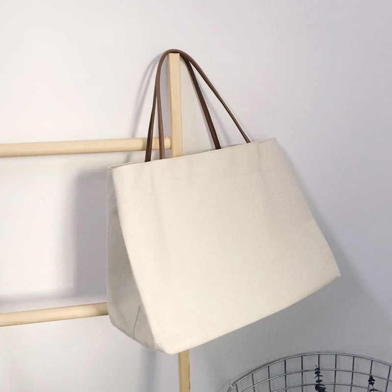 Bolsas de lona femininas, sacos de sacola de praia reutilizáveis, bolsas casuais para carrinho, grande capacidade, imperdível, 2019