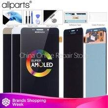 "Asli 6.0 ""Layar AMOLED untuk Samsung Galaxy A9 LCD Layar Sentuh Digitizer 2016 A9 Pro A910 A9100 LCD Display pengganti"